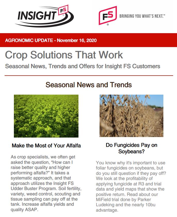 Agronomic Update - November 2020