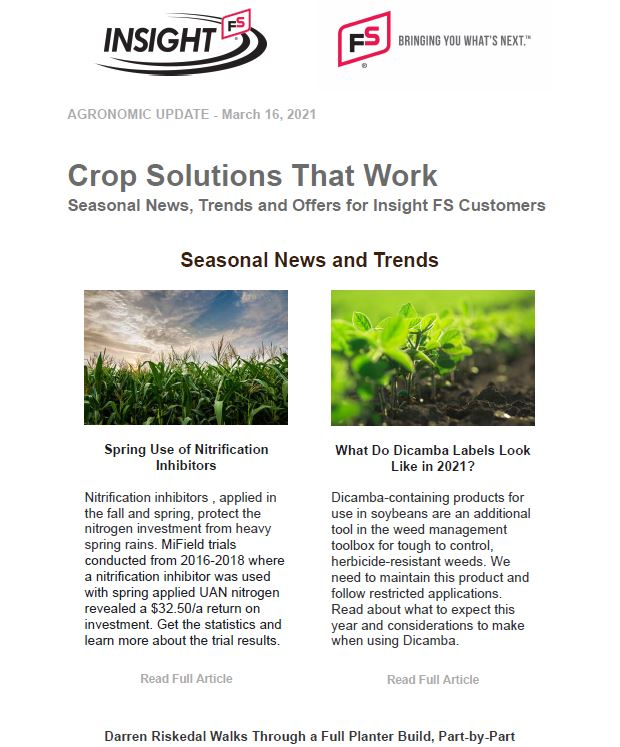 Agronomic Update - March 2021